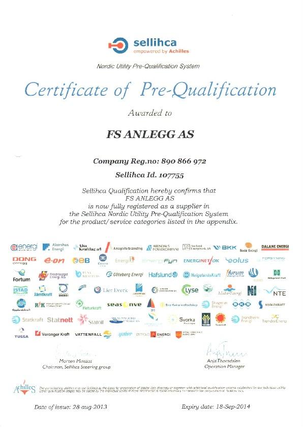 Certificate of pre